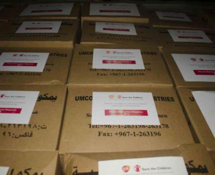 Save the Children distributes lifesaving healthcare equipment to treat obstetric and new born emergencies in Yemen critical situation
